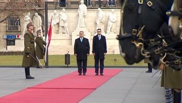 Morawiecki na Węgrzech. Rozmowy z Orbanem o przyszłości UE, migracji i praworządności