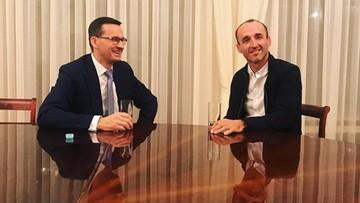 """""""No hard feelings i jedziemy dalej!""""Premier Morawiecki spotkał się z Kubicą"""