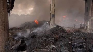 Kolejny pożar składowiska odpadów w Zgierzu