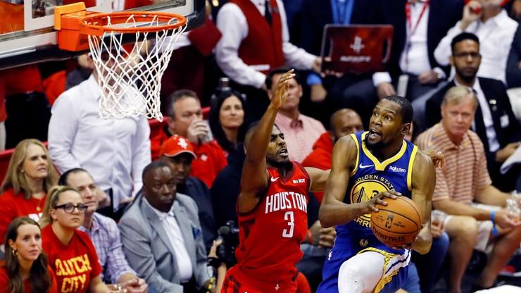 NBA: Warriors bez Duranta w rywalizacji z Rockets