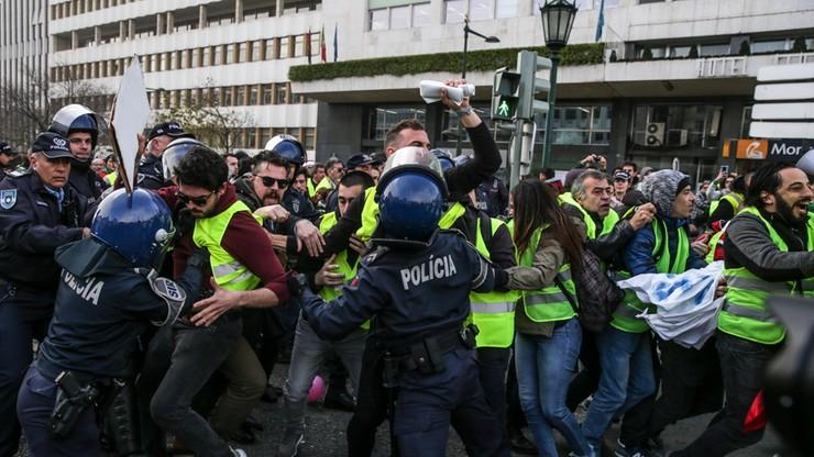"""Portugalia: policja rozbija protesty """"żółtych kamizelek"""""""