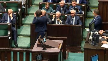 Kaczyński grozi palcem posłance PiS. Za krytykę nowelizacji ustawy o SN