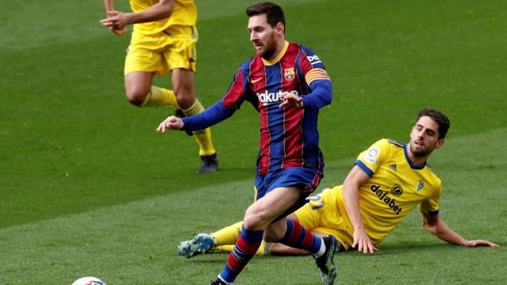Barcelona straciła punkty z Cadiz. Rekord Lionela Messiego
