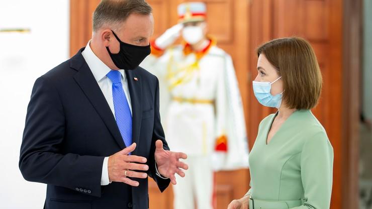 """Andrzej Duda po spotkaniu z prezydent Mołdawii Maią Sandu. """"Chcemy im pomóc"""""""