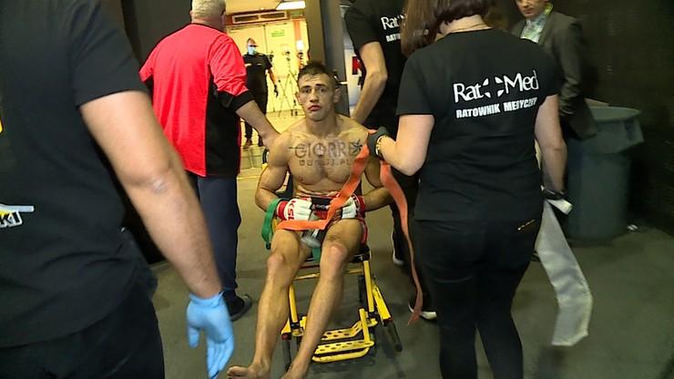 KSW 56: Znokautowany Rajewski i Grzebyk ze złamaną nogą. Tak wyglądali tuż po przegranych walkach (WIDEO)