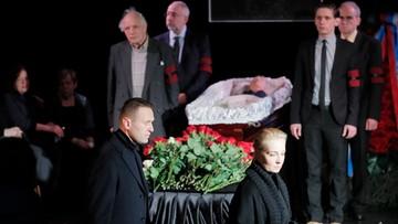 Ostatnie pożegnanie Ludmiły Aleksiejewej. W uroczystości wzięli udział m.in. Putin i Nawalny