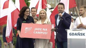 Trzaskowski w Gdańsku: mam plan odbudowy Rzeczypospolitej