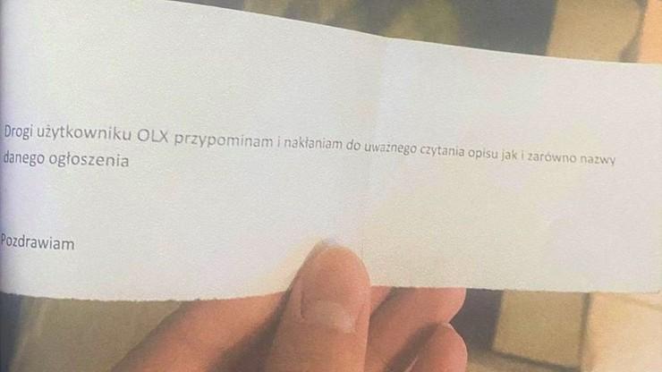 Zamiast repliki broni dostał zdjęcie i list z przestrogą