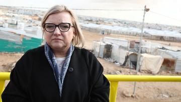 Beata Kempa odwiedziła obóz dla uchodźców w Jordanii