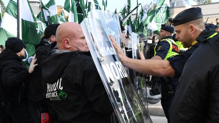 Policja przerwała marsz neonazistów w Goeteborgu. Doszło do zamieszek