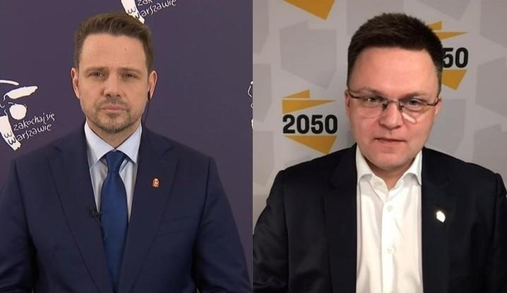 Sondaż: Trzaskowski i Hołownia liderami opozycji w Polsce
