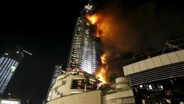 Ogromny pożar hotelu w centrum Dubaju