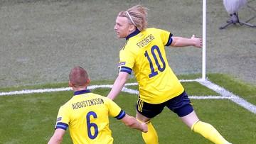 Polska – Szwecja 0:2. Gol Emila Forsberga