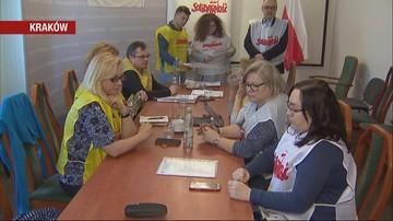 """Nauczycielska """"Solidarność"""" okupuje kuratorium oświaty w Krakowie"""