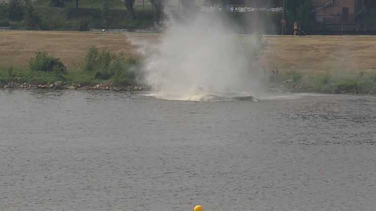 PKBWL bada przyczyny wypadku Jaka-52, który rozbił się na Wiśle w Płocku