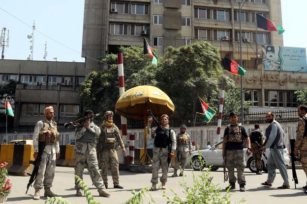Afgańscy żołnierze podczas posterunku w Kabulu