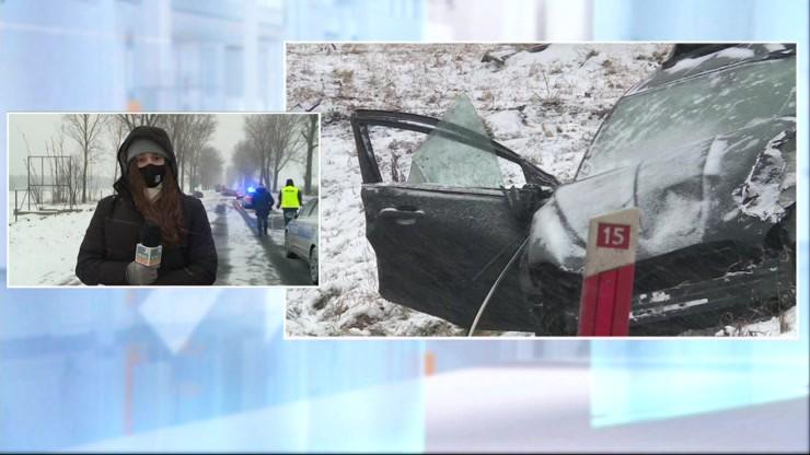 Dolnośląskie: zderzenie pięciu samochodów, jedna osoba nie żyje