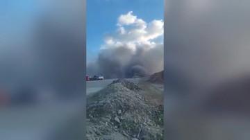 Wybuch gazu na budowie nowej zakopianki. Droga zamknięta
