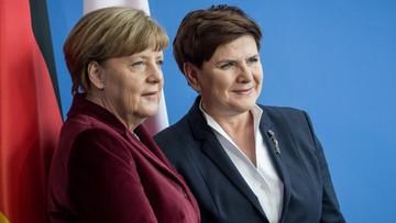"""""""Polityczny faul"""". Niemiecka prasa komentuje wizytę premier Szydło w Berlinie"""
