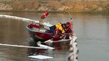 Narew oczyszczona po wycieku oleju. Do rzeki mogło wpłynąć nawet pięć ton tłustej substancji