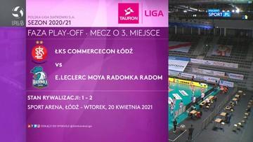 ŁKS Commercecon Łódź – E.Leclerc Moya Radomka Radom 3:0. Skrót meczu