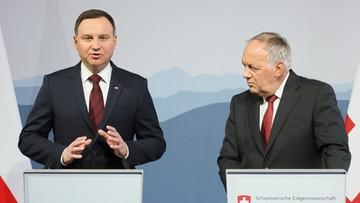 Prezydenci Polski i Szwajcarii dyskutowali o frankowiczach