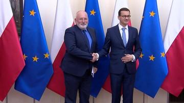 Spotkanie Morawiecki-Timmermans ws. praworządności w Polsce. Briefing dla mediów trwał trzy minuty