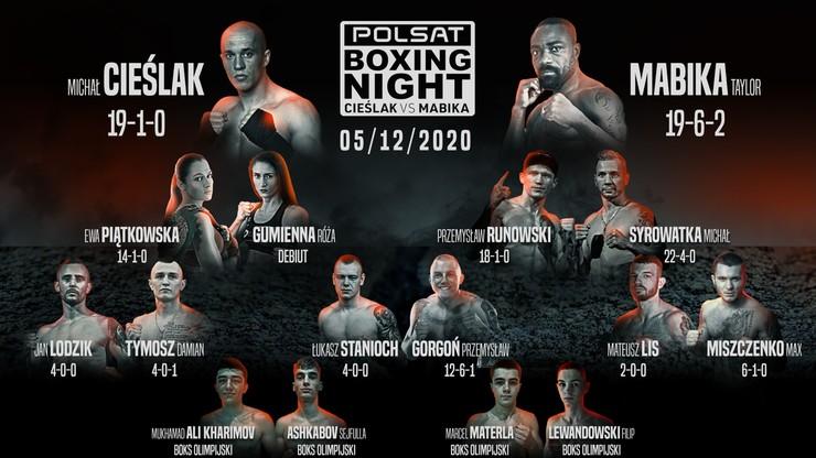 Gala Polsat Boxing Night. Michał Cieślak kontra Taylor Mabika. Debiut Materli