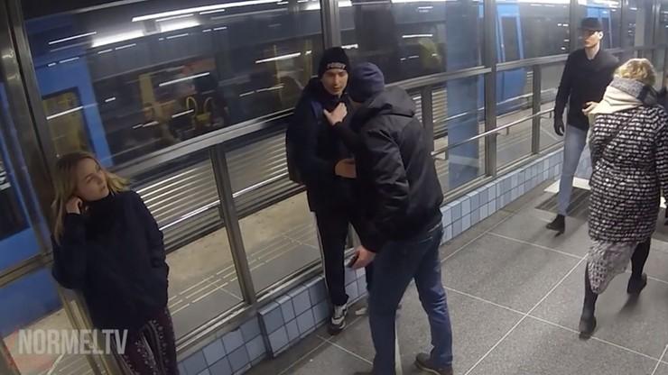 Eksperyment w Szwecji: Polak stanął w obronie atakowanej kobiety