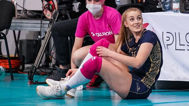 Co za poświęcenie Natalii Mędrzyk. Piękne zagranie nogą na wagę seta! (WIDEO)
