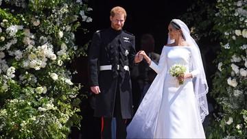 """Meghan Markle i książę Harry powiedzieli sobie """"Tak"""". Uroczystość na zamku w Windsorze"""