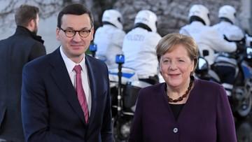 """Morawiecki spotkał się z Merkel. """"Mamy dobrego, solidnego partnera"""""""