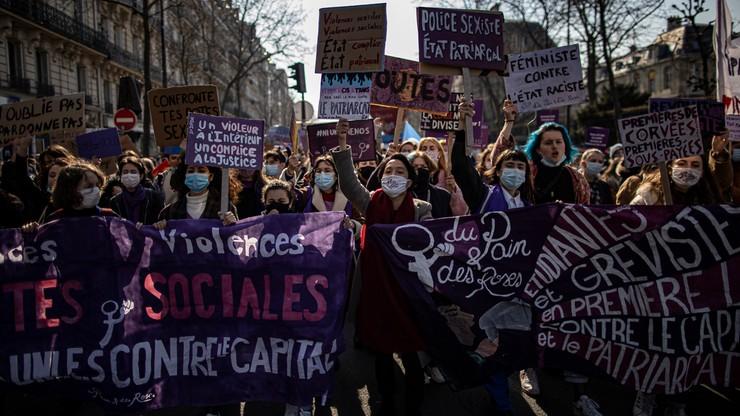 """Francja. """"Strajk feministyczny"""" w Dniu Kobiet. Uczestnicy potępiali nierówności"""