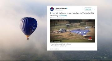 7 osób trafiło do szpitala po kraksie balonu. Część z osób została wyrzucona z kosza