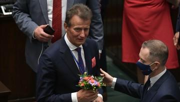 Zagłosował na Wiącka, a chciał na Staroń. To jego pierwszy dzień w Sejmie