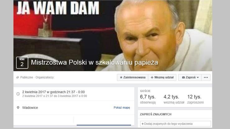 Skandaliczna zabawa na Facebooku. Obrażają Jana Pawła II