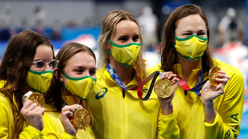 Tokio 2020: Triumf Australijek na 4x100 m stylem zmiennym