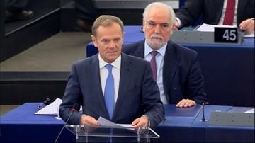 Tusk w europarlamencie: celem musi być jedność i zaufanie