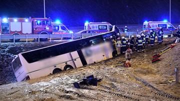 Śmiertelny wypadek autokaru na A4. W tym samym miejscu, co dwa tygodnie temu