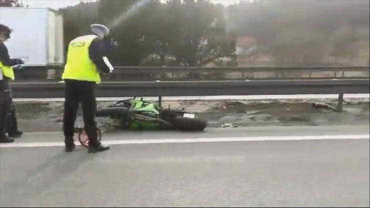Wypadek na Obwodnicy Trójmiasta. Motocykl uderzył w samochód
