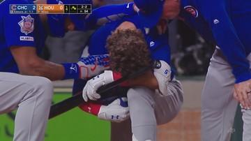 Dziecko uderzone piłką podczas meczu baseballa. Szok zawodnika