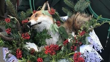 Martwy lis w koszyku na pielgrzymce myśliwych. Będzie zawiadomienie o popełnieniu przestępstwa