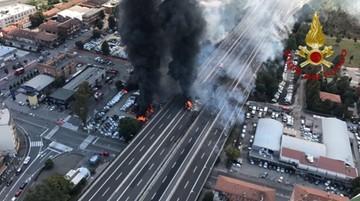 Eksplozja tira na autostradzie w pobliżu Bolonii. Dwie ofiary, wielu rannych
