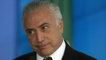 Prezydent Brazylii oskarżony o przyjmowanie łapówek. Procesu nie będzie