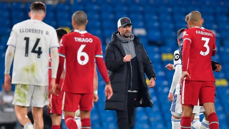 Premier League: Remis Liverpoolu z Leeds United w cieniu protestów przeciw Superlidze