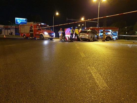 W nocy z soboty na niedzielę, doszło do poważnego wypadku w Łodzi.