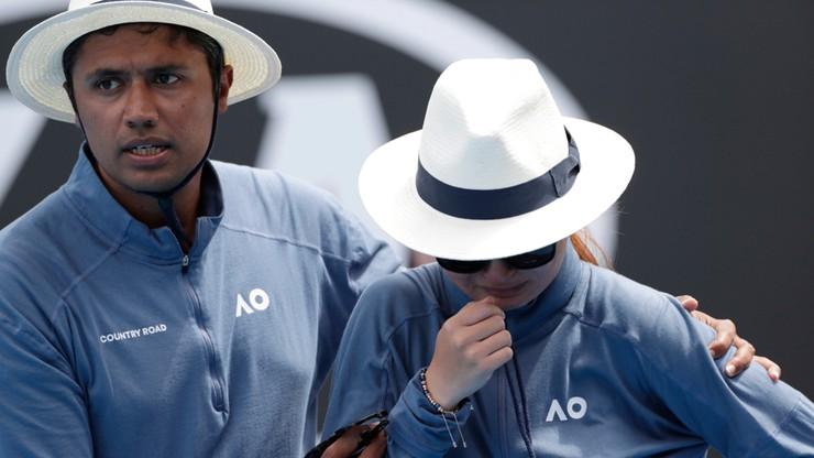 Australian Open: Sędzia liniowa ucierpiała po uderzeniu piłką