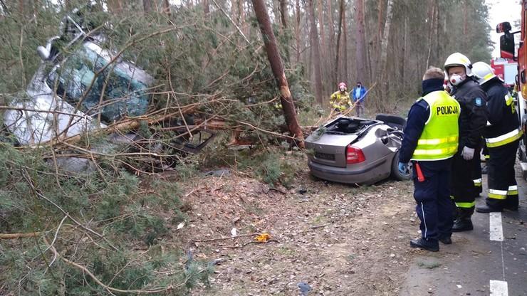 Samochód rozpadł się na pół. Dramatyczny wypadek w Lubelskiem