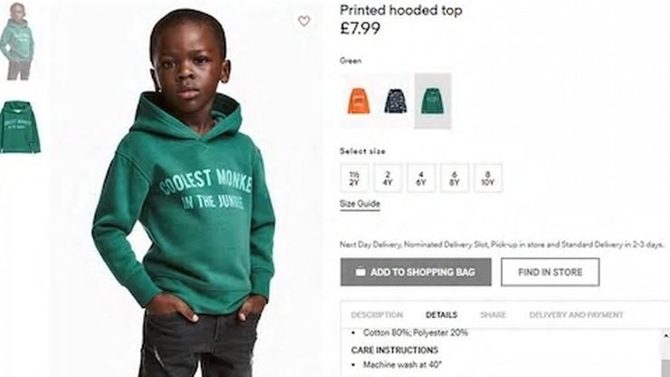 """""""Najfajniejsza małpa w dżungli"""". H&M przeprasza za reklamę z czarnoskórym dzieckiem"""