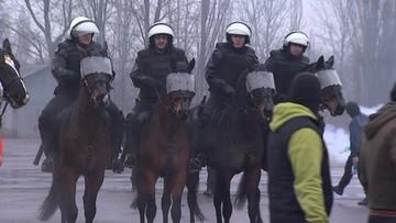 Konie do walki z kibolami. Na razie ćwiczą w Łodzi